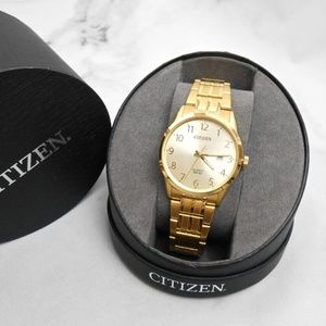 Men's Citizen Quartz Gold Tone Watch